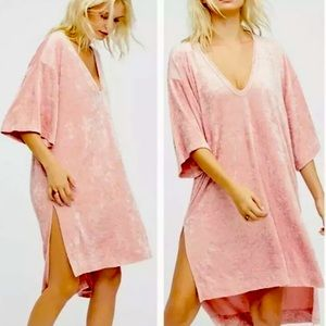 Free People Passion Flower Velvet Pullover Tunic
